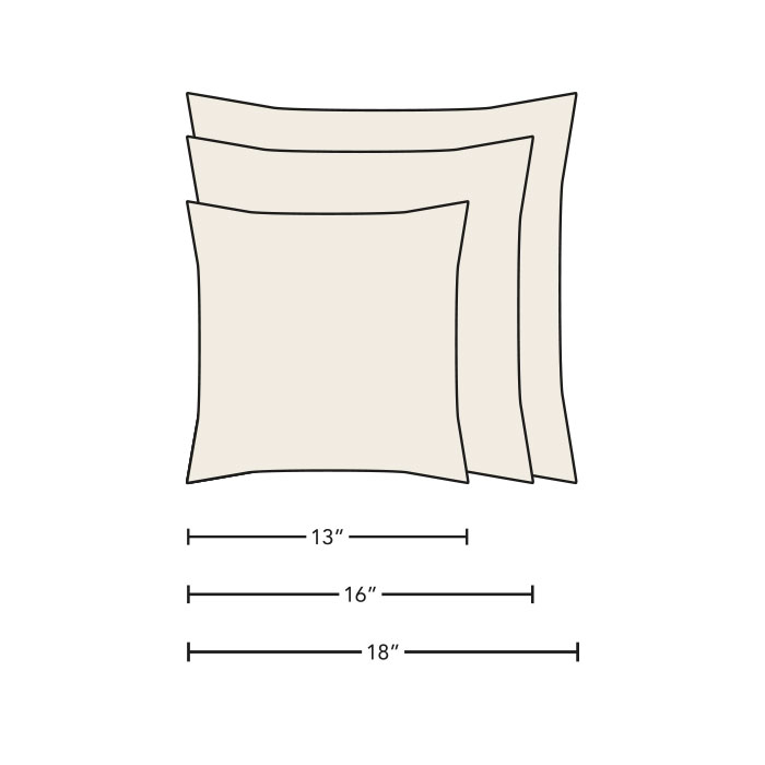 pillow size chart
